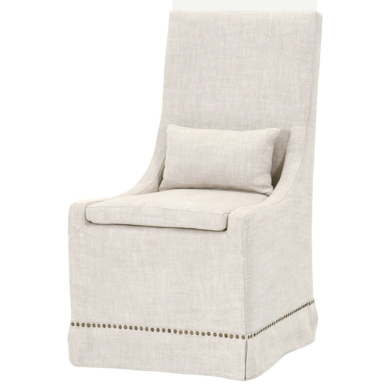 Slope Arm Upholstered Dining Chair