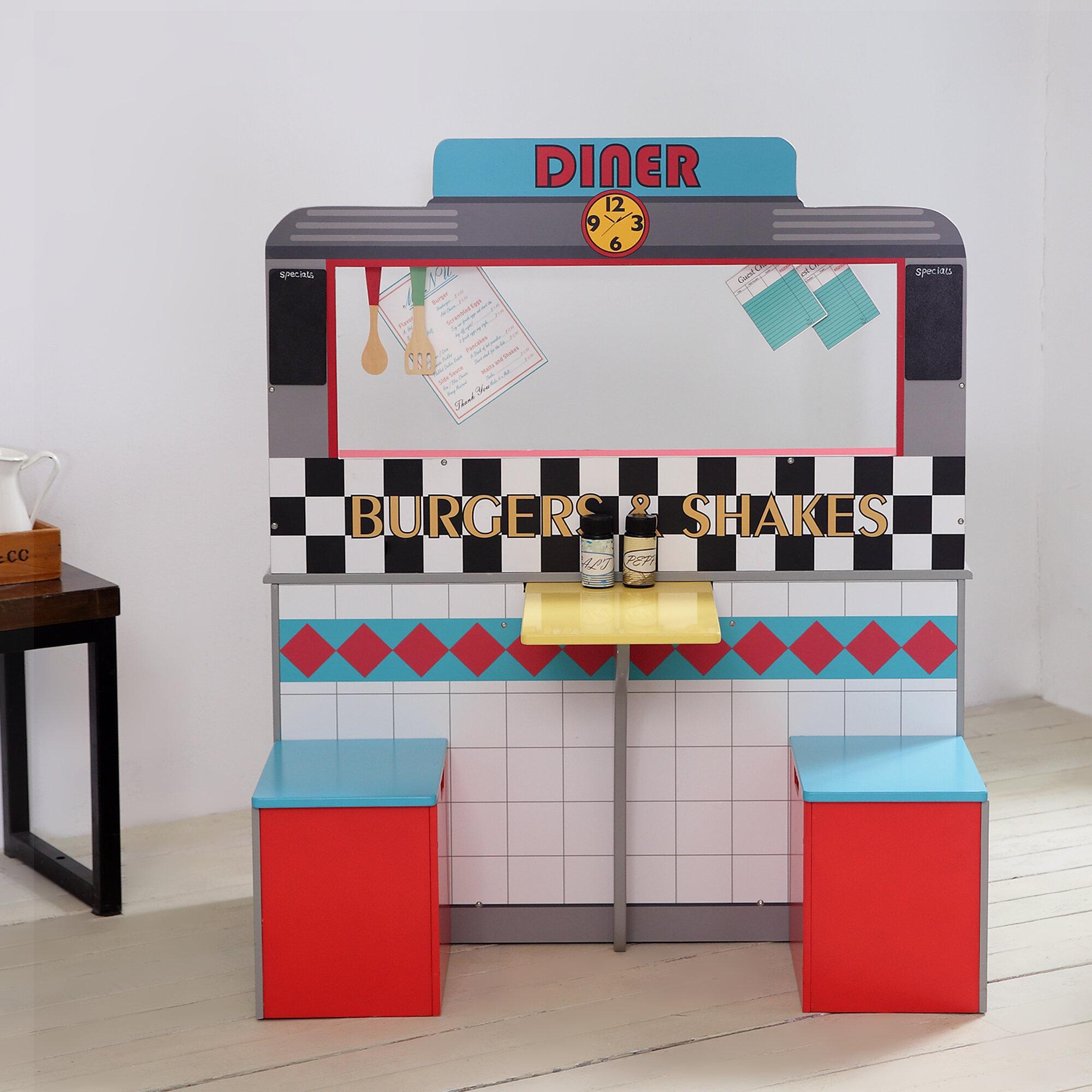 Teamson Kids 14 Piece Brooklyn Diner Play Kitchen Set ...