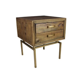 Boatman End Table with Storage