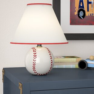 Sports table lamps youll love wayfair tessa baseball 12 table lamp mozeypictures Images