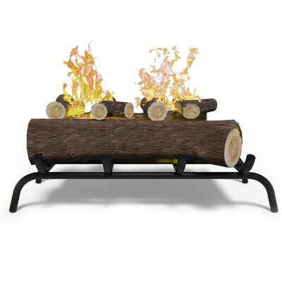 Convert to Ethanol Fireplace Log Set with Burner Insert from Gel or Gas Logs Regal Flame