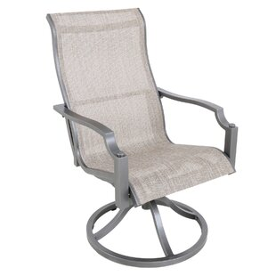 Konevsky Sling Swivel Patio Dining Chair (Set of 2)