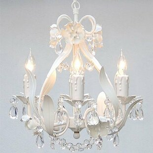 White Cream Finish Wrought Iron Chandeliers You Ll Love In 2021 Wayfair