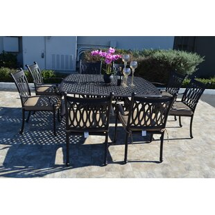 Baragrey 9 Piece Dining Set with Cushions
