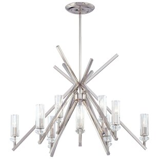 Metropolitan by Minka Fusano 12-Light Shaded Chandelier