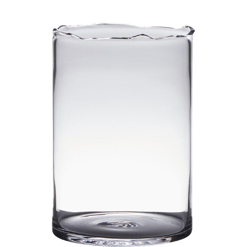 Bidkhome Transparent Glass Table Vase Wayfair