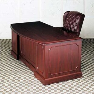 Bedford Double Pedestal Bow Front Executive Desk