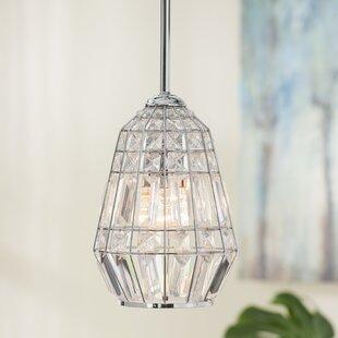 House of Hampton Needham Market 1-Light Crystal Pendant