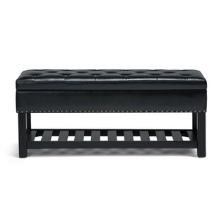 Simpli Home Lomond Faux Leather Bench