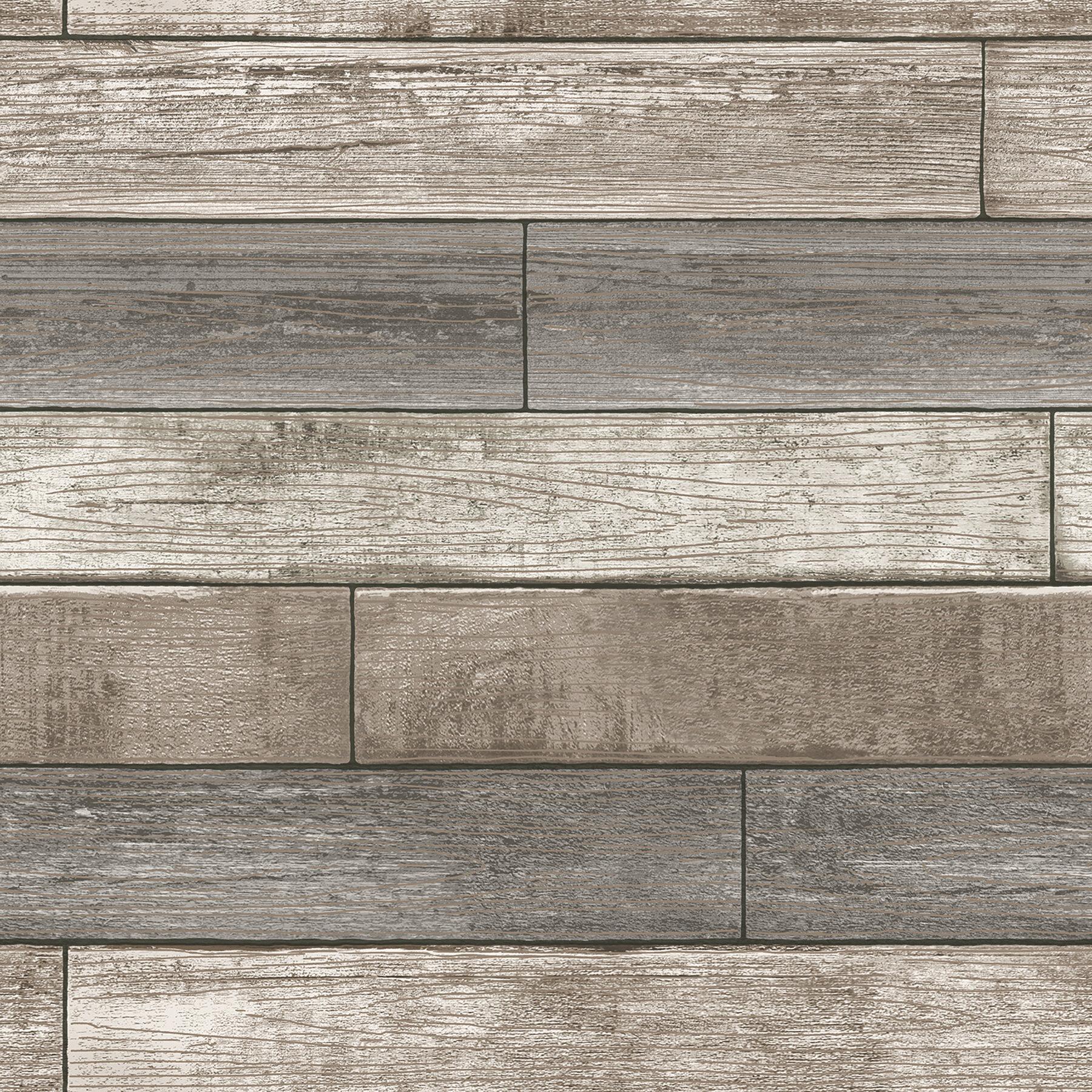 Wallpops Nu 18 X 205 Reclaimed Wood Plank Wallpaper Roll