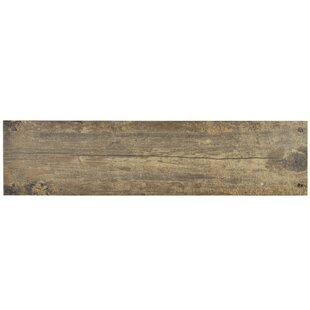 Chalet 5 88 X 23 63 Ceramic Wood Look Field Tile In Brown