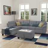 Tahira 88.6 Left Hand Facing Sectional with Ottoman by Red Barrel Studio®