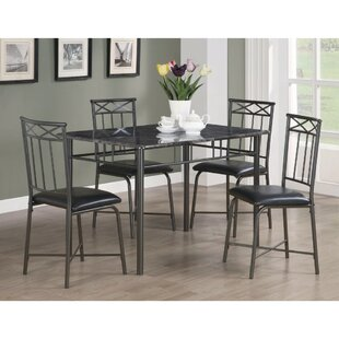 Isbell 5 Piece Dining Set by Winston Porter