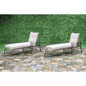 Tony Outdoor Garden Chaise Lounge (Set of 2)