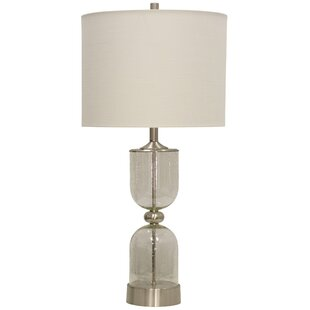 Vandeventer Transitional Glass and Metal 33.5 Table Lamp