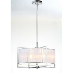 Mercer41 Grayone 3-Light Drum Chandelier