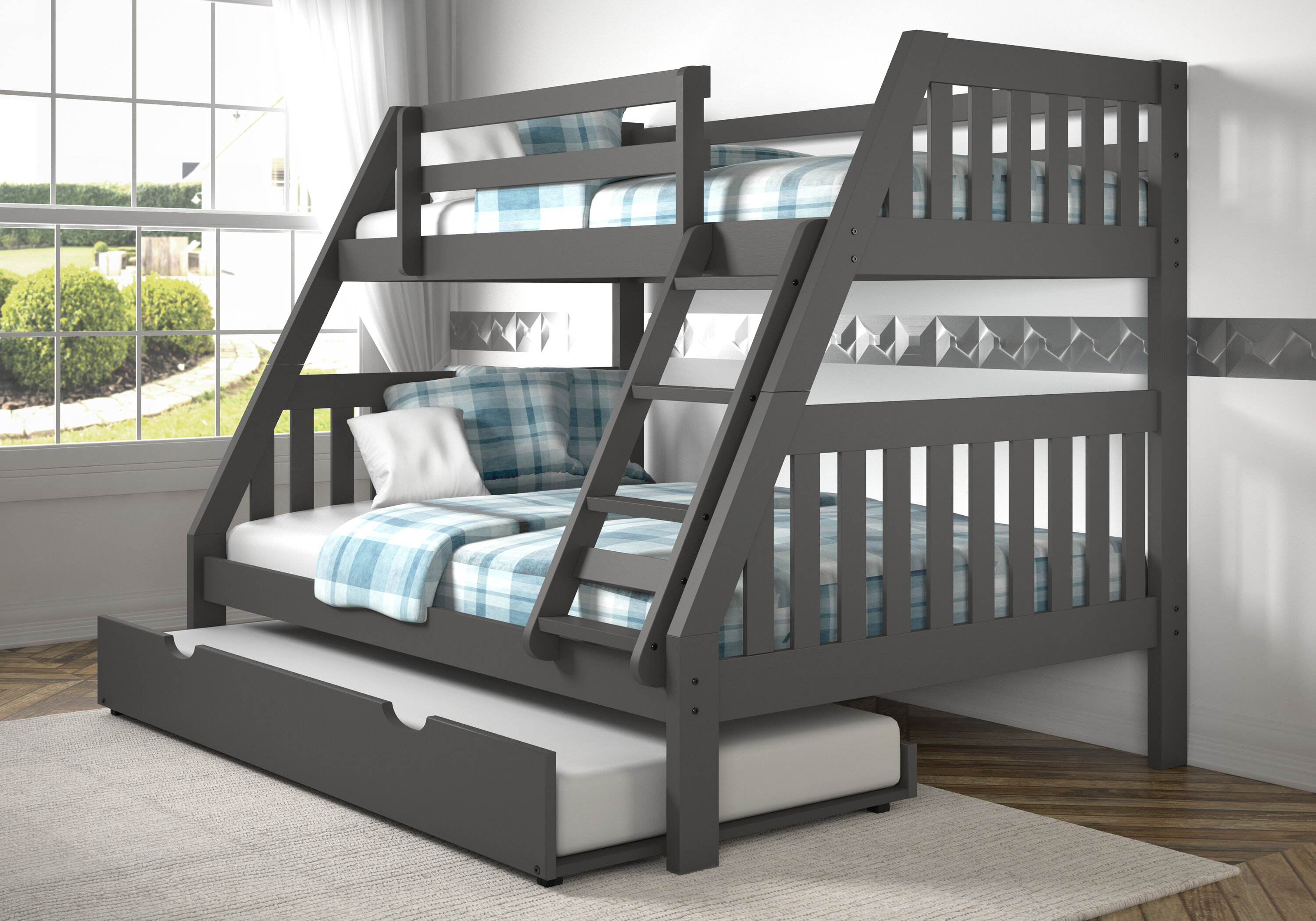 Dubbo Bunk Bed With Trundle