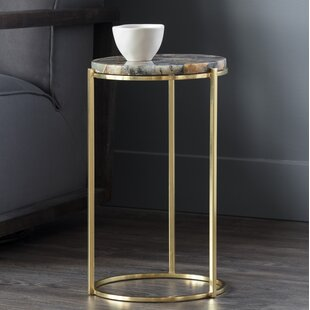 Tillie Natural Agate Stone End Table