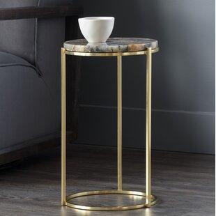 Tillie Natural Agate Stone End Table by Sunpan Modern