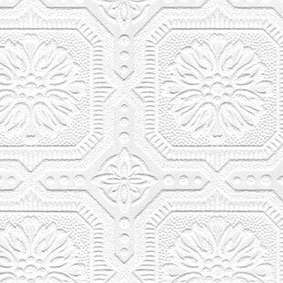 Adeline 33 X 205 Damask 3D Embossed Wallpaper Roll