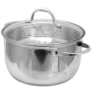 Brenta 6 Qt. Stainless Steel Round Dutch Oven