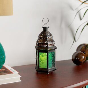 Lucy Green Glass Moroccan Lantern