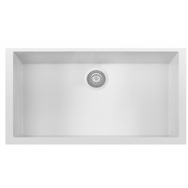 "Kitchen Sink 19 X 33: Alfi Brand Granite Composite 33"" L X 19.38"" W Single Bowl"