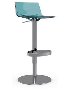 L'Eau Adjustable Height Swivel Bar Stool Connubia