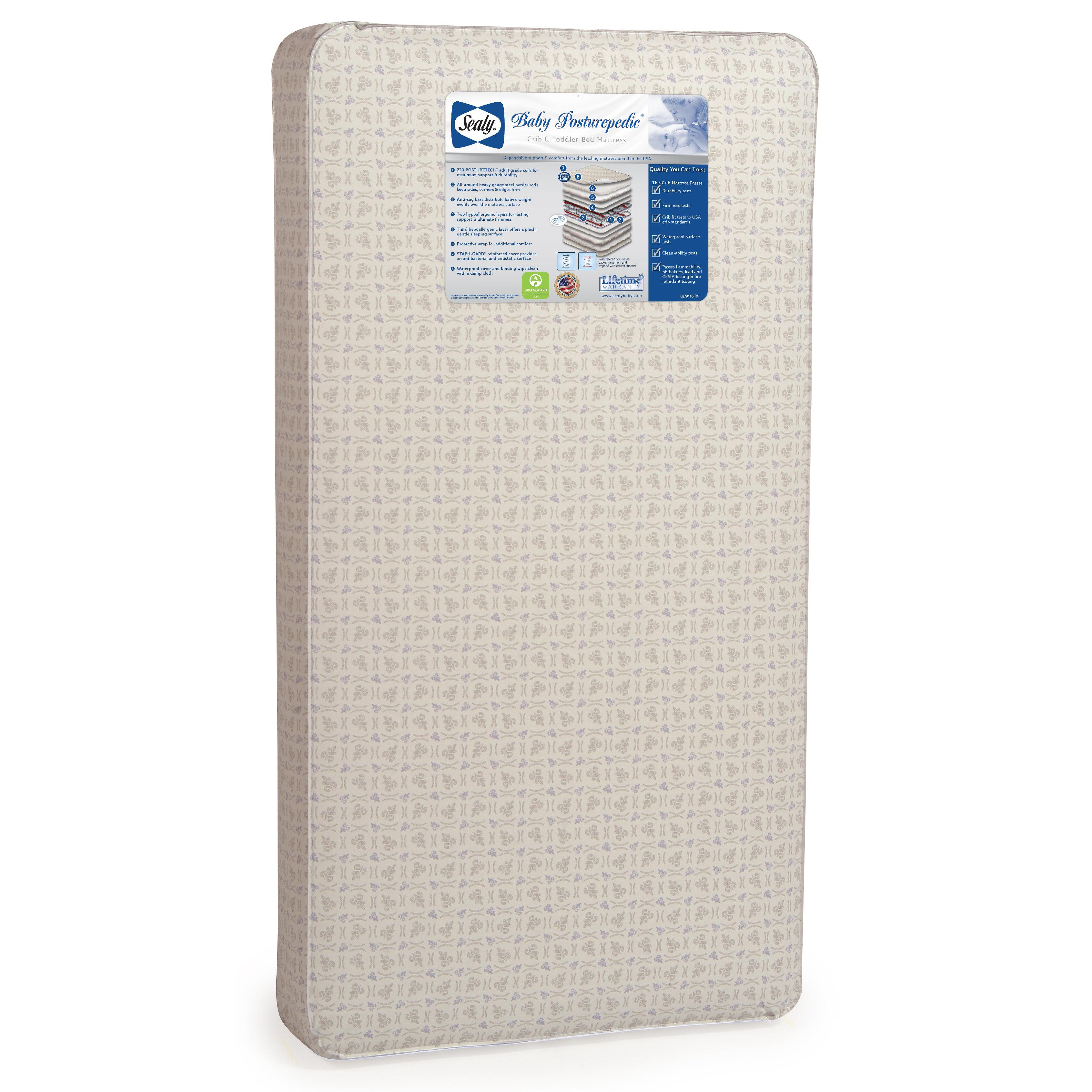 "sealy baby posturepedic 5.75"" crib mattress & reviews | wayfair"