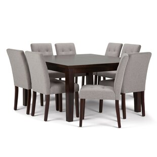 Washtenaw 9 Piece Solid Wood Dining Set Red Barrel Studio