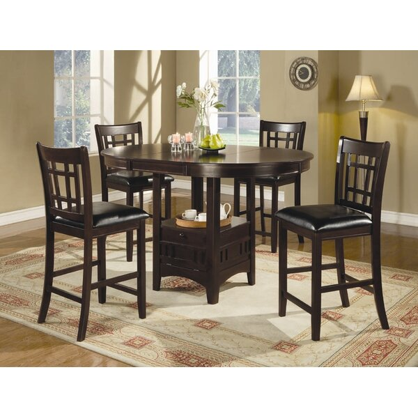Alcott Hill Norwalk Counter Height Extendable Solid Wood Dining Table U0026  Reviews   Wayfair