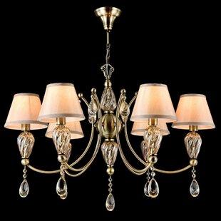 Murano glass chandelier wayfair murano 6 light candle style chandelier aloadofball Gallery