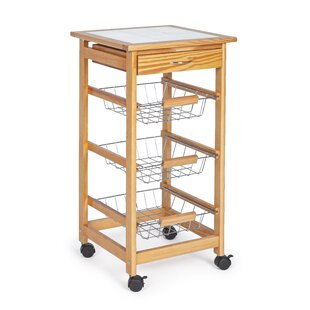 Bernice Kitchen Trolley With Tile Top By Belfry Kitchen