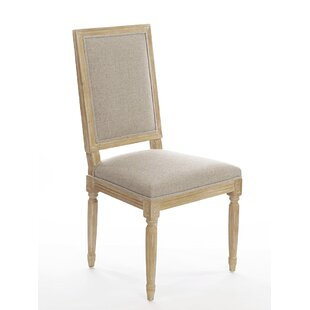 Pilla Vintage Square Upholstered Side Cha..