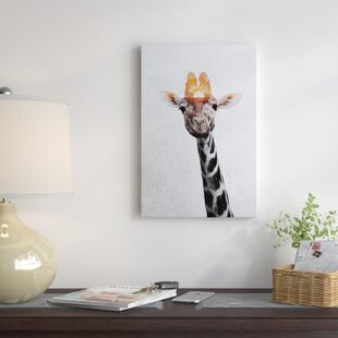 U0027Giraffe IIu0027 Photographic Print On Wrapped Canvas