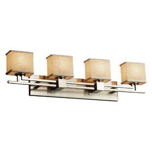 Ebern Designs Favela Aero 4 Light LED Rectangle Vanity Light