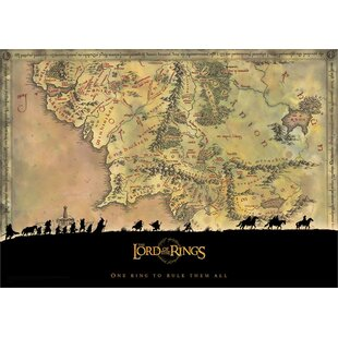 Middle Earth Map Wayfair