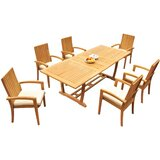 Werner 7 Piece Teak Dining Set