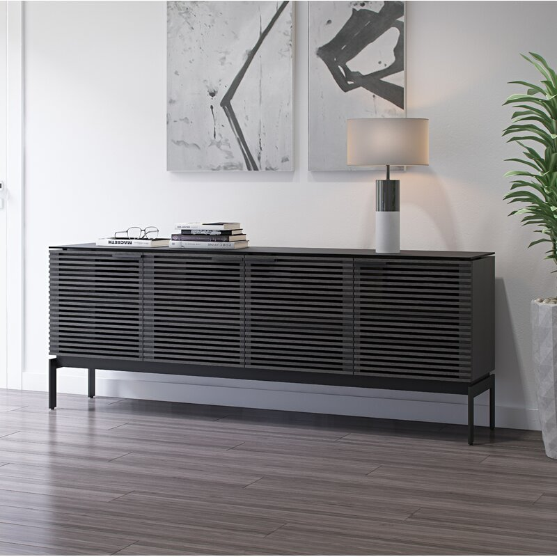 """BDI Corridor TV Stand for TVs up to 78""""  Color: Charcoal Stained Ash"""