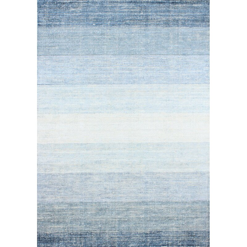 Gracie Oaks Severo Hand-Loomed Blue Area Rug, Size: Rectangle 86 x 116