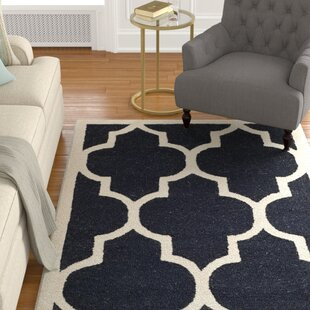 Parker Lane Hand-Tufted Wool Black/Ivory Area Rug ByDarby Home Co