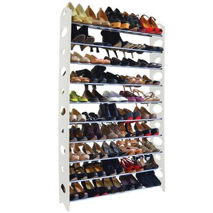 Rebrilliant 10-Tier 50 Pair Stackable Shoe Rack