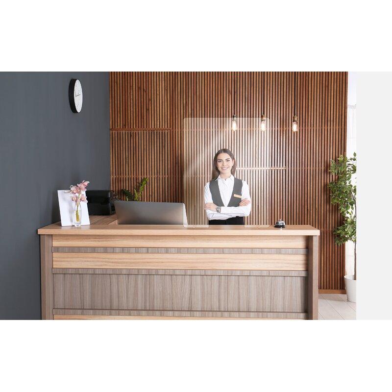 Aarco Social Distancing Acrylic 1 Panel Desk Privacy Panel Wayfair