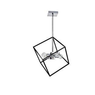 Brayden Studio Elizalde 4-Light Geometric Chandelier