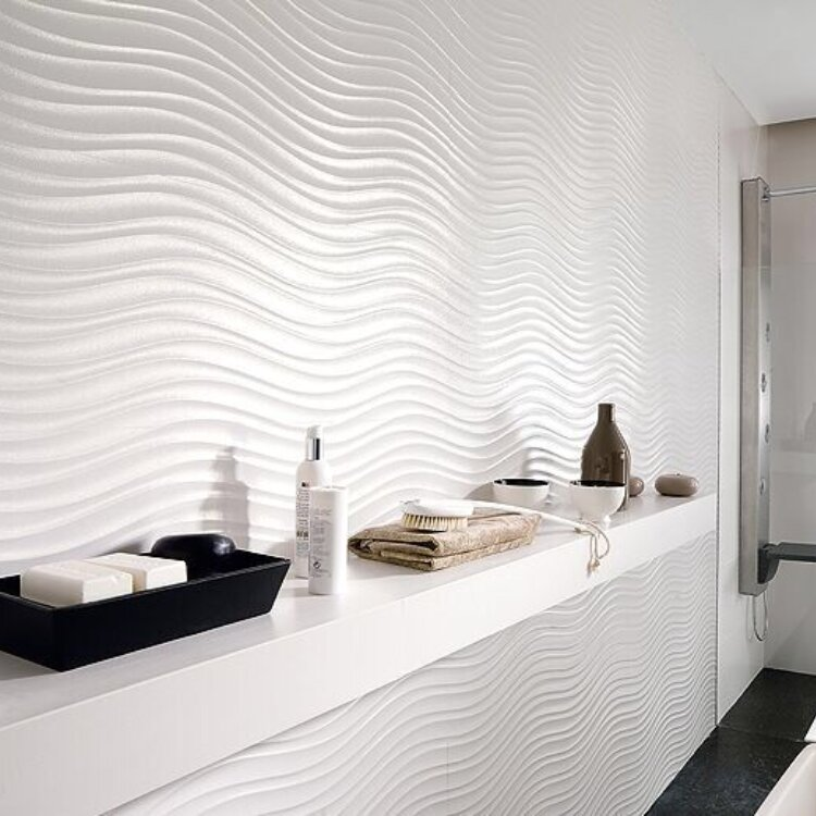 Ceramic Wall Tile In Glossy White