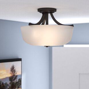 Cumberbatch 2-Light Semi Flush Mount by Three Posts