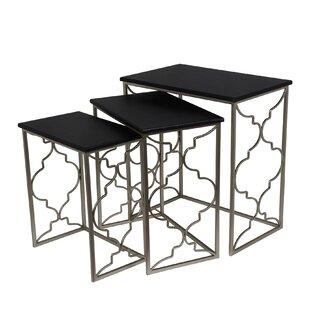 Compare prices Filippo 3 Piece Nesting Tables by Willa Arlo Interiors