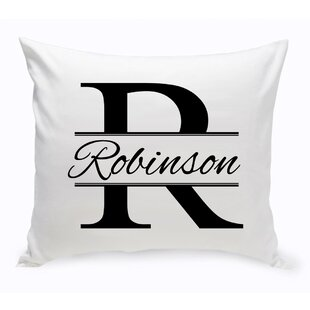 Stamped Decorative Cotton Throw Pillow