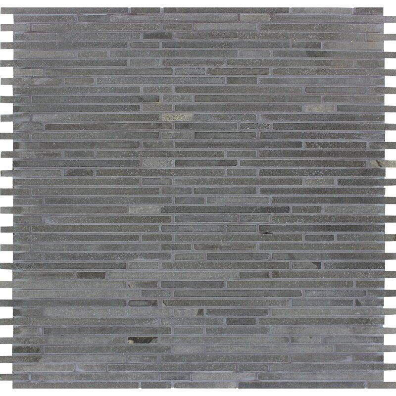 Msi Bamboo Honed Basalt Mosaic Tile In Blue Wayfair