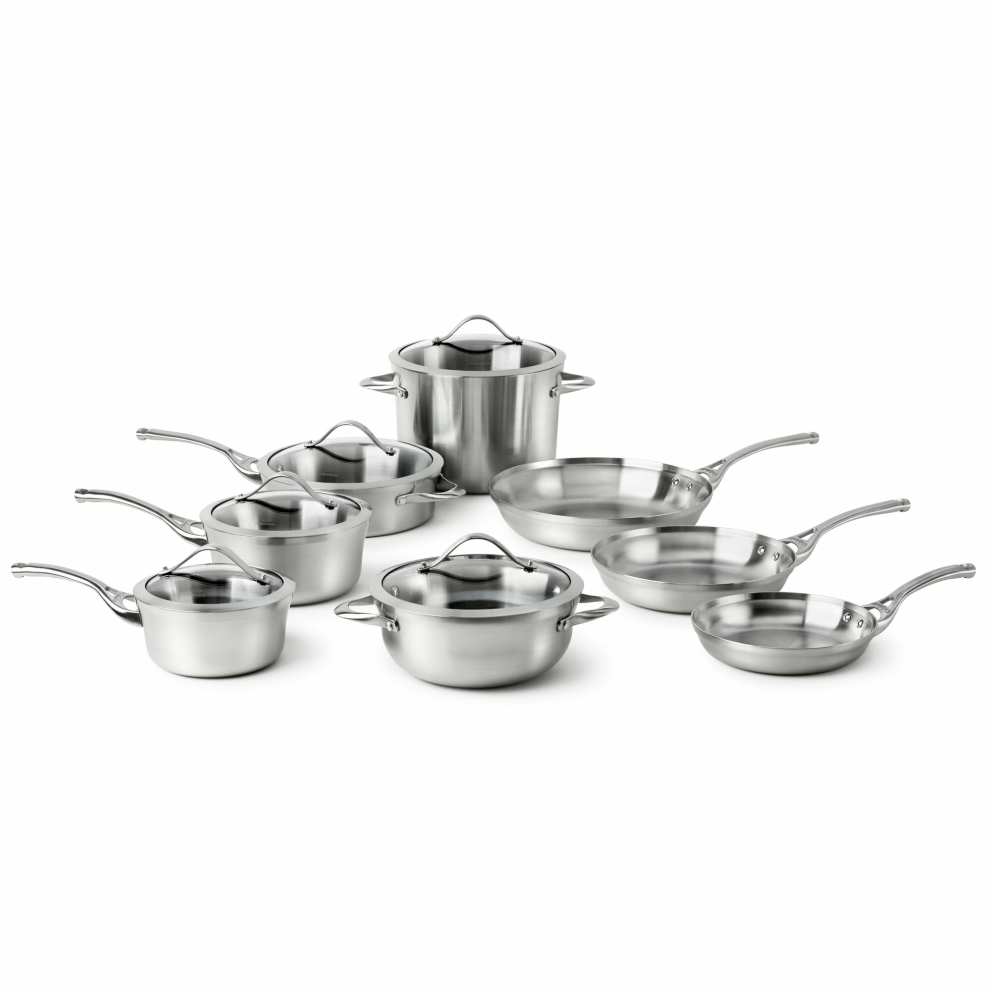 Calphalon Contemporary 13 Piece Stainless Steel Cookware Set ...